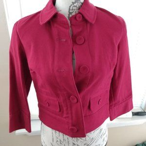 4/$20 Red button up blazer size 2